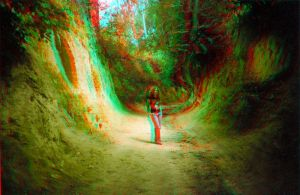 The gorge 3D Anaglyph by yellowishhaze