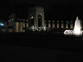 WWII Monument at Night by Wonderdyke-Stock