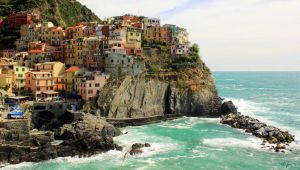 the colorful village of Manarola by frei76