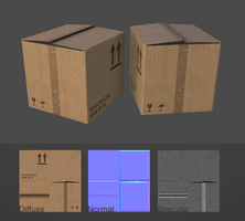 Cardboard box by Bula17