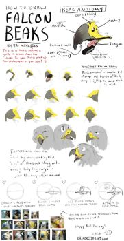 Tutorial: How To Draw Falcon Beaks by BriMercedes