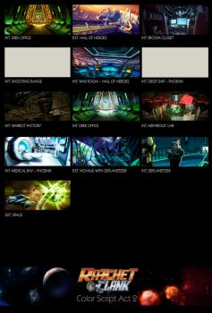 Ratchet and Clank Act 2 Color Script by Tonywash