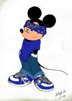 Gansta Mickey Colored by Knuczema-the-Echidna