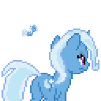 Trixie Lulamoon back sprite by fanofetcetera