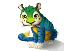 Croods: Chunky the Tiger by tamaraR