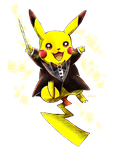 Pokemon Orchestral - Conductor Pikachu by neshirys