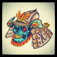 Samurai Skull by paintball0531