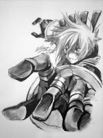 Haseo Reaching Out by Atrieisan