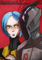 Borderlands2 zero and maya by edwardoo