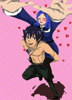 Juvia+Gray comission by ChimuruArt