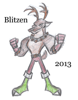 Blitzen by Cartoonray