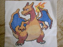 Charizard Cross Stitch by Mickeycricky