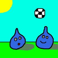 Slimes playing Soccer by DragonQuestWes