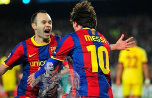 Andres Iniesta and Leo Messi by netta95