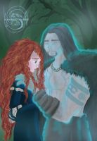 Merida and Mordu by avrien-huggin