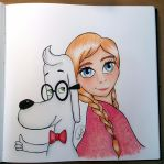 Anna and Mr Peabody for Serpanade-toons by Sailor-Aria