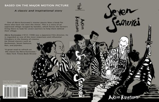 Seven Samurai Book Cover by uzi91