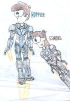 Gravity Falls: The Armored Mystery Twins by Mystic2760