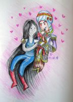 Love time with Marceline and Wrathion by Nastea-AnyMash