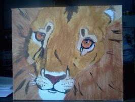 Lion Painting - Better quality by Peggy2011