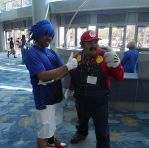 Sonic and Mario by R-Legend