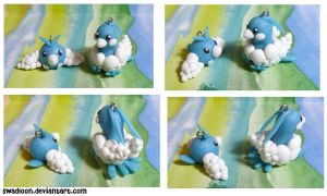 Chibi pm CM: Swablu + Altaria by Swadloon