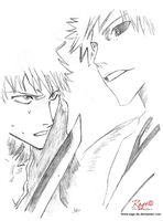 Ichigo.Ichigo Hollow Bleach by Rage-DN