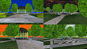 MMD City Park Stage by mbarnesMMD