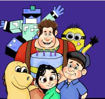 Wreck it Ralph and friends by Artemis298
