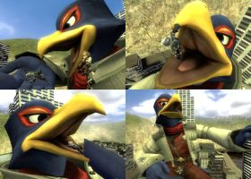 GMod - Macro Falco pretends eating Wolf by togepi1125