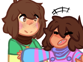 Chara and Frisk~ by Partially-Pacifistic