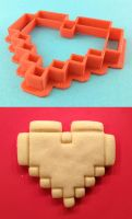 8-bit heart from Zelda Cookie Cutter by WarpzonePrints