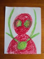 Red and Green Man by BalloonTomb