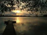 Sunset on the Dock by fieckel
