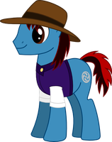 Request twenty-eight A - Gale Force the Earth Pony by AetherElemental