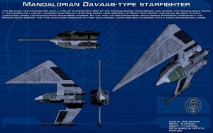 Mandalorian Davaab-type starfighter ortho [New] by unusualsuspex