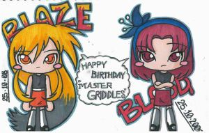 Blaze and Blood in Chibi by pokediged
