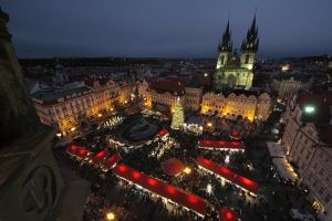 Old Town Square at Christmas by DusanPavlicek