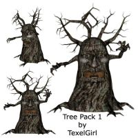 Scary Tree Pack by TexelGirl-Stock