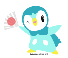 . Japan shiny Piplup . by Dragounette