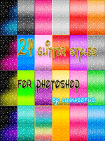 Glitter Styles for Photoshop by lunnasofus