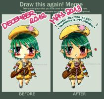 Before and after meme: Mal by Aiseiri