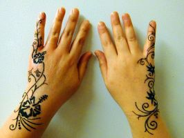 Two hand henna freehand design by JJShaver