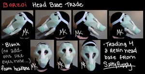 Borzoi Head Base Trade by PawthenticCreations