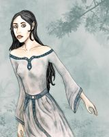 Luthien in Doriath by DoveDinell