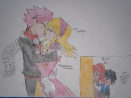NaLu kiss before the masqerade ball was over by Ayakashixxx
