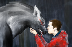 Boy and his Wolf by Pandora-Poe