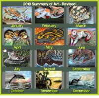 2010 Summary of Art by animalartist16