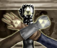Triforce Hands by ZerachielAmora