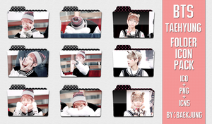 BTS Taehyung (V) - Folder icon pack by BaekJung